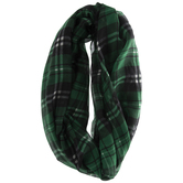Green & Black Plaid Loop Scarf