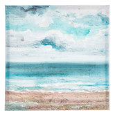 Cloudy Beach Painted Canvas Wall Decor