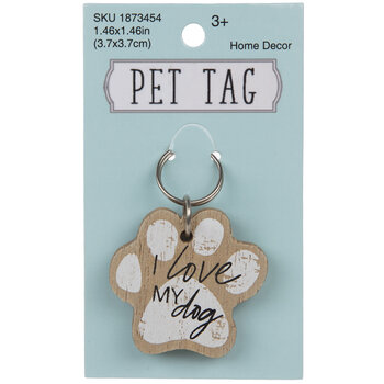 I Love My Dog Pet Tag