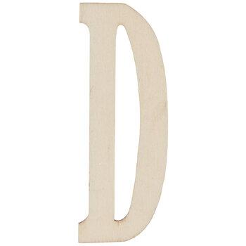 "Vintage Sign Wood Letters D - 4"""