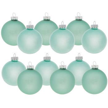 Mint Green Matte & Shiny Ball Ornaments