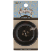 Dark Brown Marble Round Button - 50mm