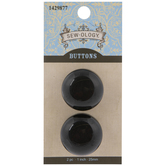 Black Coat Buttons - 25mm
