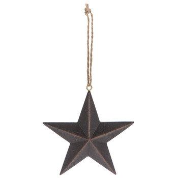 Brown Star Ornament