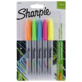 Neon Fine Point Sharpie Markers - 5 Piece Set