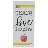 Teach Love Inspire Wood Decor