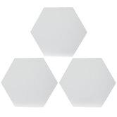 "Hexagon Magnetic Blank Canvas Set - 6"""