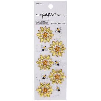 Sunflowers & Bees Rhinestone Stickers