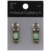 Imitation Opal Owl Charms
