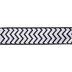 Black Glitter Chevron Wired Edge Ribbon - 2 1/2
