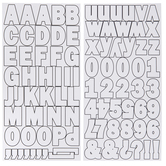 White Franklin Alphabet Stickers - 1 1/4""