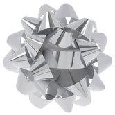 "Metallic Silver Bow - 8"""