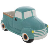 Teal & White Truck Dish