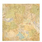"Old Postcards Scrapbook Paper - 12"" x 12"""