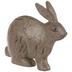 Brown Rustic Crouching Rabbit