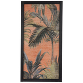 Orange & Green Palm Trees Wood Wall Decor