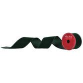 """Dark Green Velvet Wired Edge Ribbon - 2 1/2"""""""