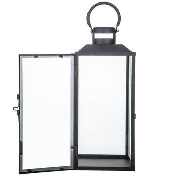 Black Simple Metal Lantern