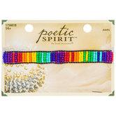 Rainbow Seed Bead Slider Bracelet