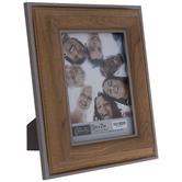 "Silver Trim Beveled Wood Look Frame - 5"" x 7"""