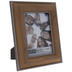 Silver Trim Beveled Wood Look Frame - 5