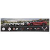 Corvette Evolution Wood Wall Decor