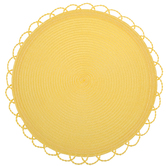 Yellow Round Loop Edge Placemats