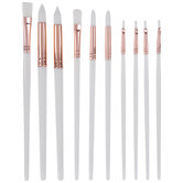 White Assorted Paint Brushes - 10 Piece Set