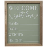 Welcome With Love Wood Wall Decor