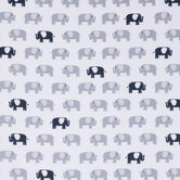 Gray & Navy Elephant Apparel Fabric