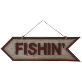 Fishin' Arrow Wood Wall Decor