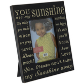 "You Are My Sunshine Wood Frame - 5"" x 7"""