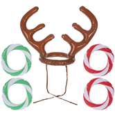 Reindeer Antlers Inflatable Ring Toss