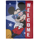 Welcome 4th Of July Mickey Garden Flag