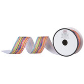 """Colorfully Uneven Striped Grosgrain Ribbon - 1 1/2"""""""