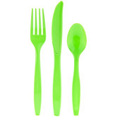 Fresh Lime Assorted Cutlery
