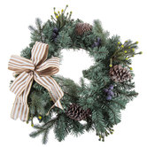 Pine, Blueberry & Pinecone Wreath