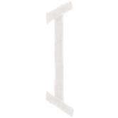 """White Circular Monogram Iron-On Left Letter I - 1 3/4"""""""