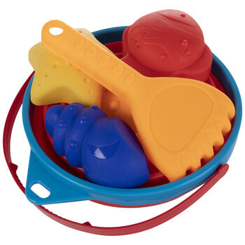 Round Collapsible Sand Bucket & Toys