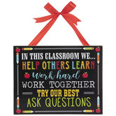 In This Classroom Wood Wall Decor