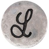 Hammered Letter Mini Snap Charm - L