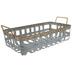 Galvanized Metal Basket - Large