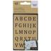 Brass Alphabet Metal Stencil