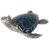 Blue & Silver Sea Turtle