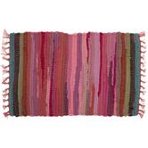 Pink Striped Chindi Placemat