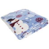 Snowmen & Snowflakes Sherpa Throw Blanket
