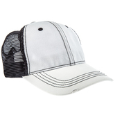 White & Black Mesh Baseball Cap