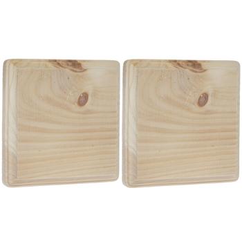 "Square Wood Plaques - 5"""