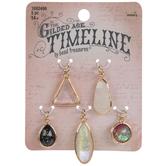 Geometric Glass Stone Charms