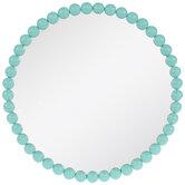 Round Beaded Wall Mirror